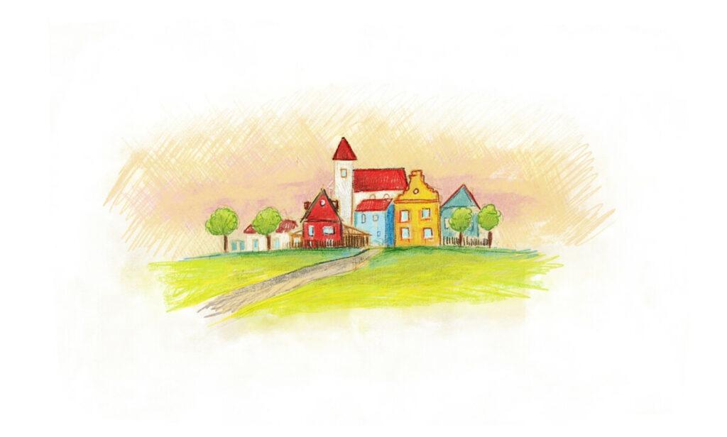 Dorf von Briefe für dich - Geschenk für Kinder von 5 - 10 Jahren