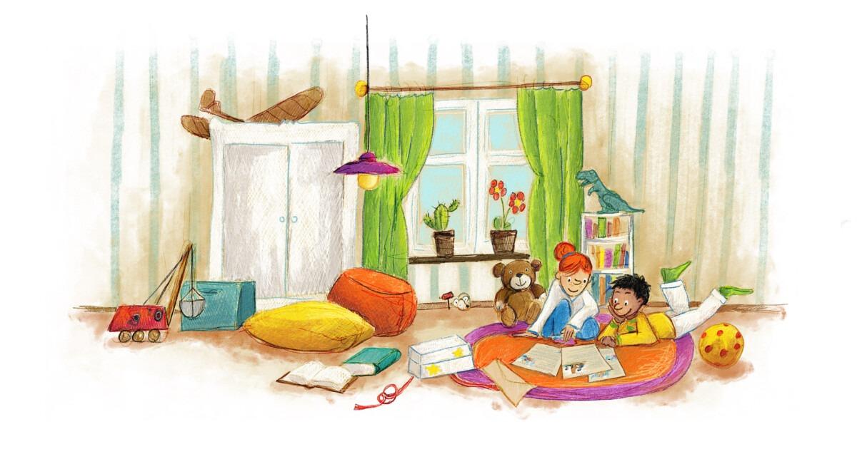 Kinderzimmer von Briefe für dich - Geschenk für Kinder von 5 - 10 Jahren